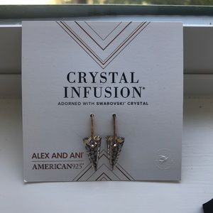 Alex and ani crystal earrings